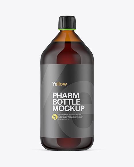 1000ml Amber Glass Bottle