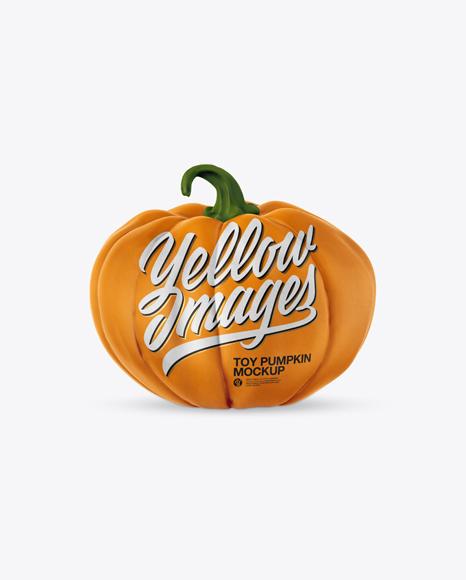 Toy Pumpkin Mockup