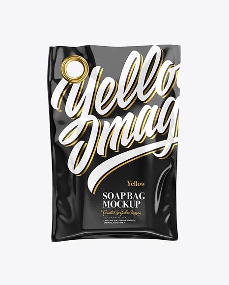 Glossy Soap Bag Mockup