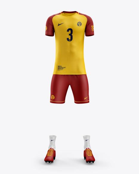 Men's Full Soccer Kit mockup (Front View)