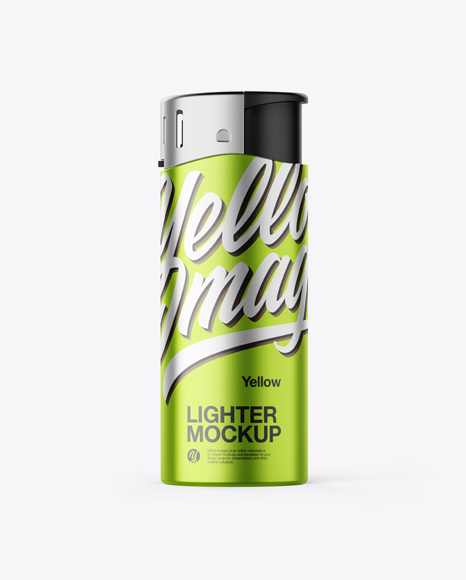 Metallized Lighter Mockup