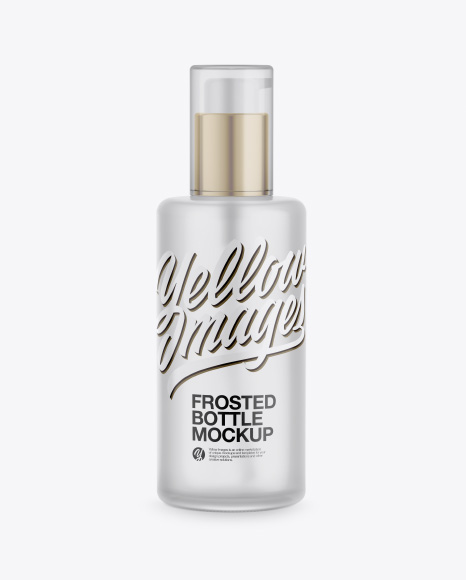 Cosmetic Frosted Bottle Mockup