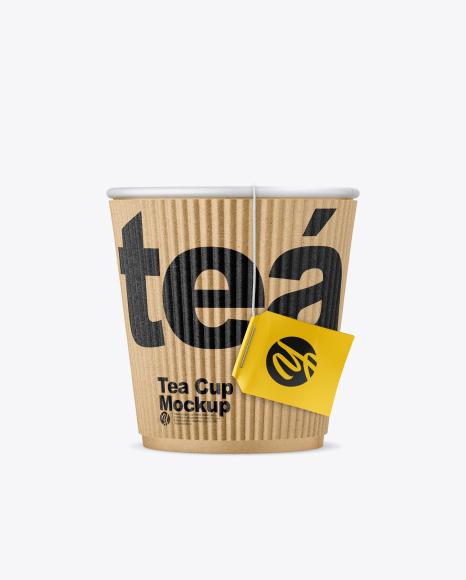 Kraft Tea Cup w/ Sleeve Mockup
