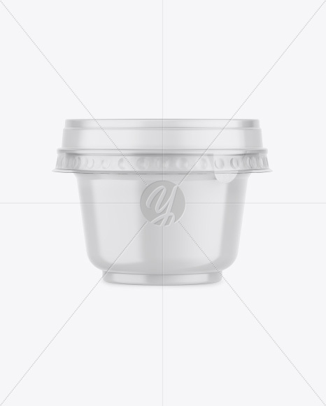 Download Matte Plastic Cup With Chocolate Balls Psd Mockup Yellowimages