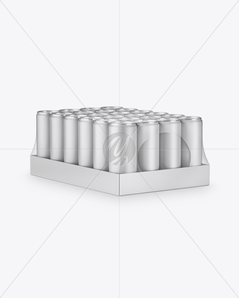 Download Transparent Pack With 24 Matte Aluminium Cans Psd Mockup Yellowimages