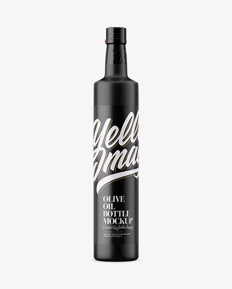 Matte Olive Oil Bottle Mockup