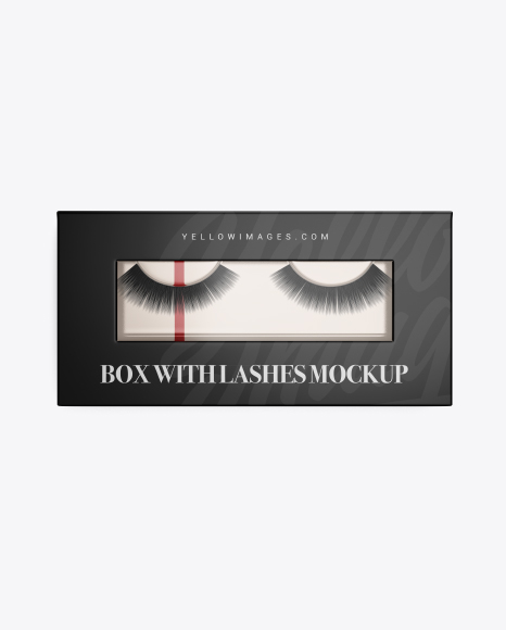 Closed Box w/ Lashes Mockup