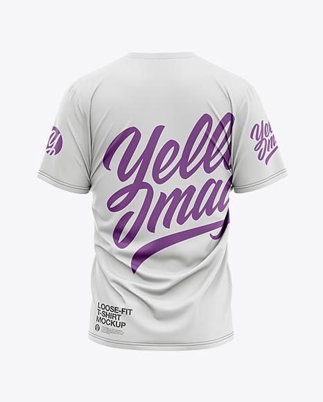 Men's Loose Fit Graphic T-Shirt - Back View