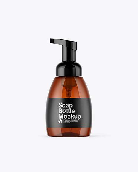 Amber Soap Bottle Mockup