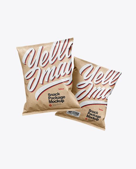 Two Kraft Snack Packages Mockup