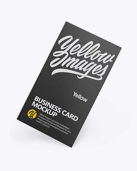 Download Business Card Mock Up Template Yellow Images