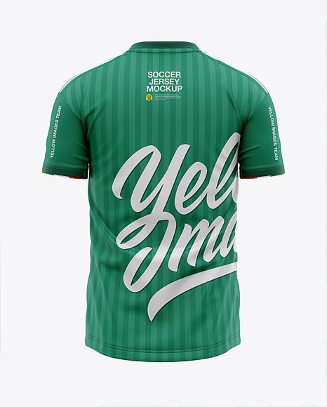 Download Men's Crew Neck Soccer Jersey Mockup - Back View ...