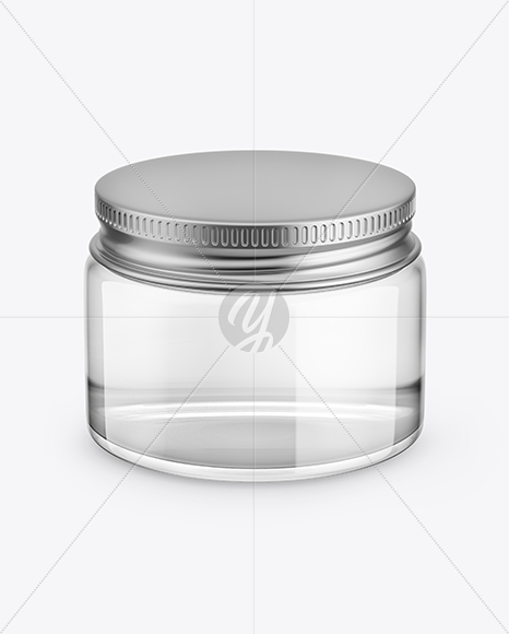 Download Clear Glass Spice Jar Psd Mockup Yellowimages