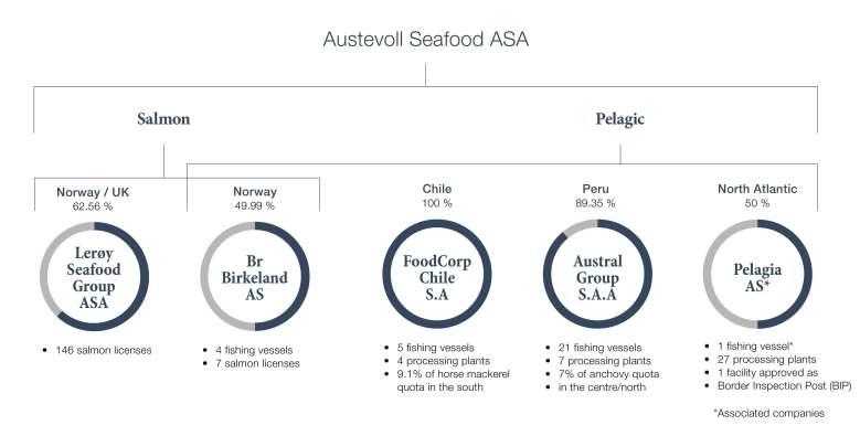 Austevoll-gruppen innan köpte av Havfisk ASA