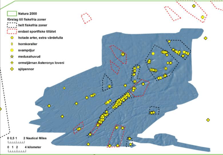 Fiskefria zoner samt skyddsvärda arter och miljöer