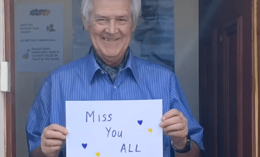 St Bernadette's PS say 'We Miss You' in a video group hug