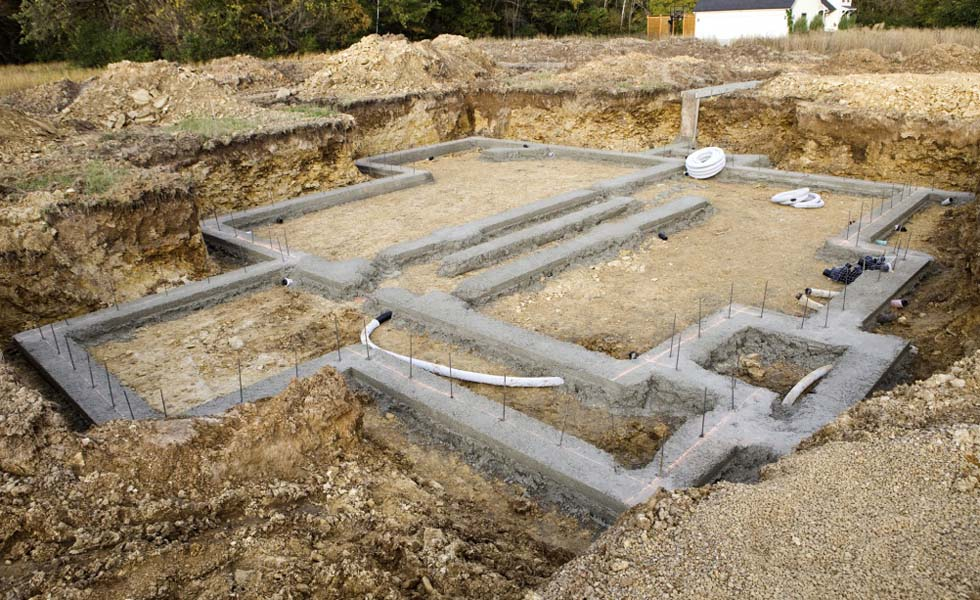 Single House Foundation Reinforcing Wall