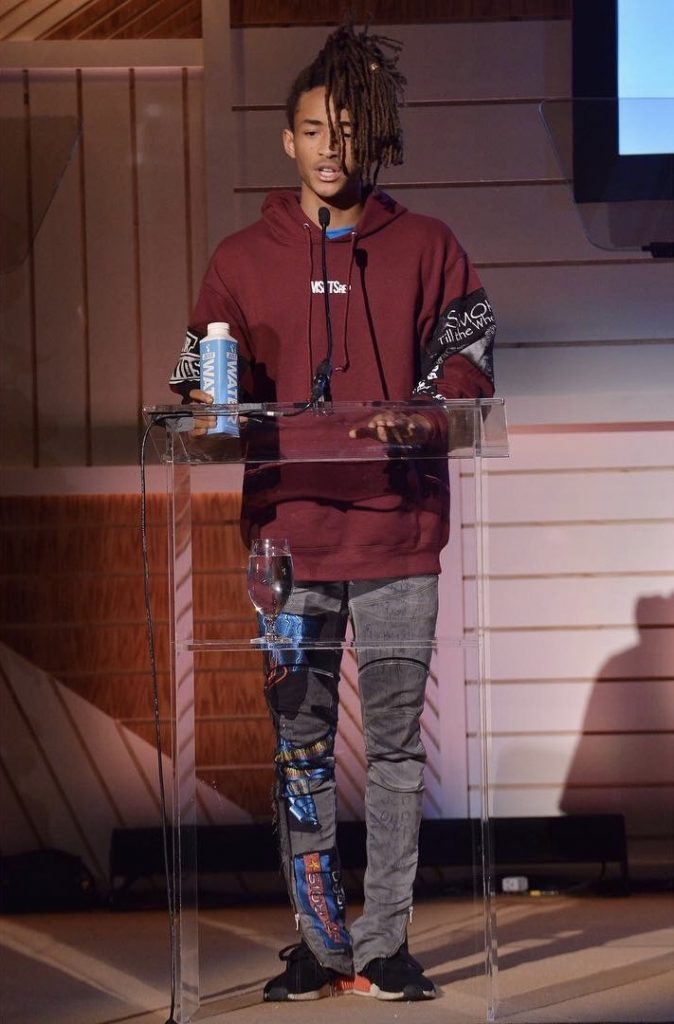 SPOTTED: Jaden Smith In MSFTSrep Custom Hoodie, Jeans and ...