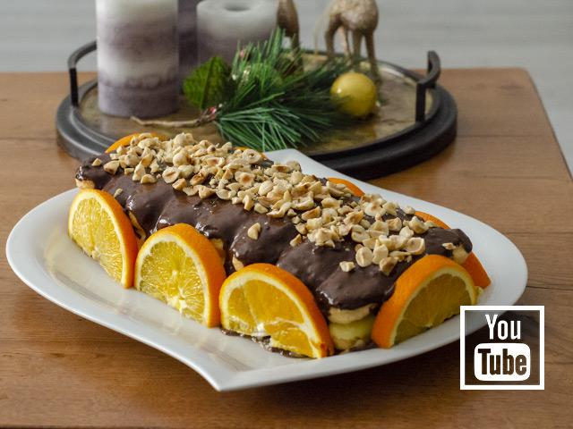 Kedi Dili Pastası  (Portakallı ve Çikolatalı)