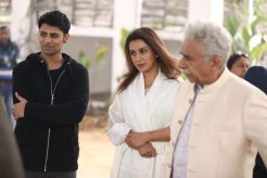 Antonio Aakeel with Tisca Chopra and Naseeruddin Shah
