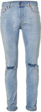 Ripped skinny jeans, £40, Topman