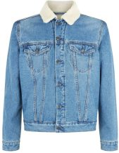 Borg lined denim jacket, £39.99, New Look