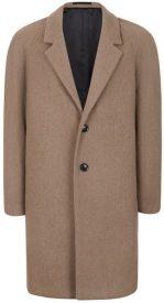 Light brown wool coat, £95, Topman