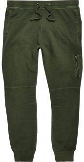 Khaki Green zip joggers, £25, River Island