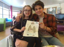 Bradley with Evie Jones, age 10 from Shrewsbury