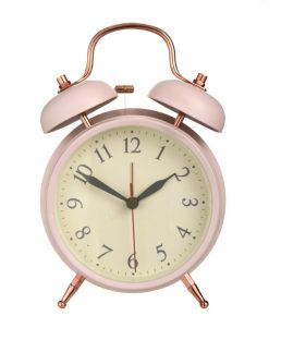 Blush Pink alarm clock, £22, Laura Ashley