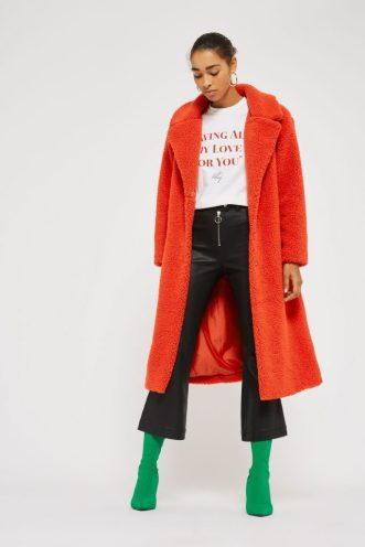 Longline Teddy Faux Fur Coat, £95, Topshop