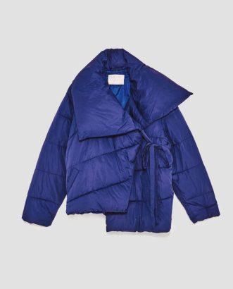 Asymmetric Quilted Jacket, £69.99, Zara