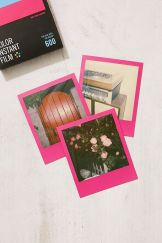 Impossible Colour Polaroid 600 Hot Pink Frame Instant Film, £20