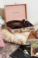 Crosley Pink and Gold Cruiser Bluetooth Vinyl Record Player, £89