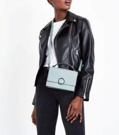 Pale Blue Hoop Front Top Handle Bag, £15.99, New Look