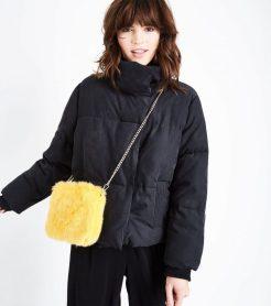 Mustard Yellow Faux Fur Shoulder Bag, £15.99, New Look