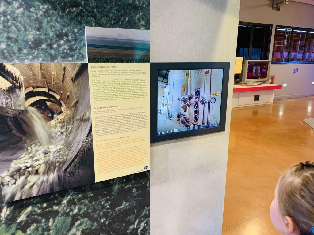 Sugar refining process video at the Haribo Museum