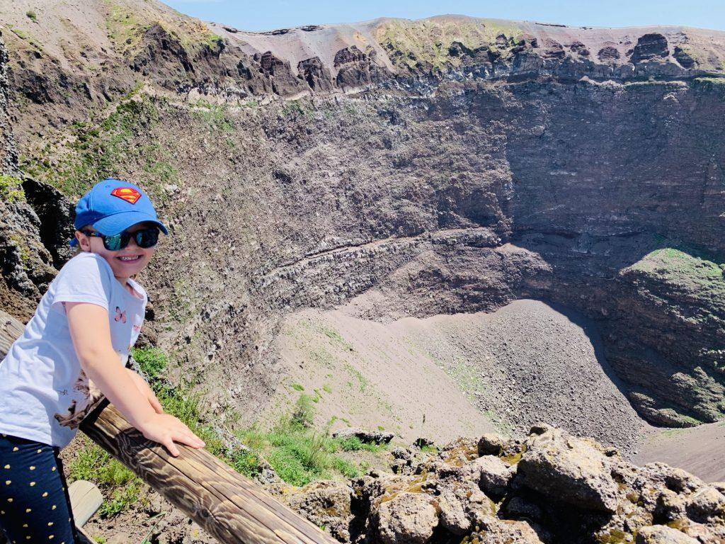 At the crater of Mount Vesuvius