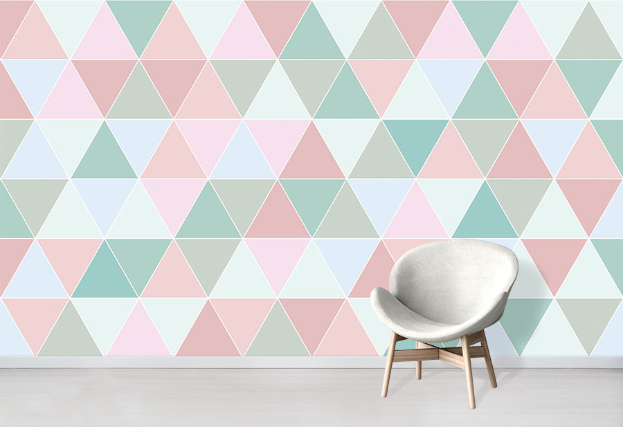 Candy Triangles Wallpaper