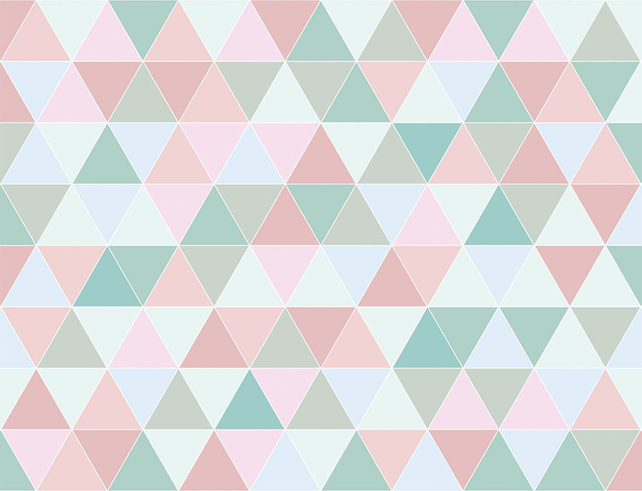 Pastel Coloured Triangle Wallpaper Wall Mural design