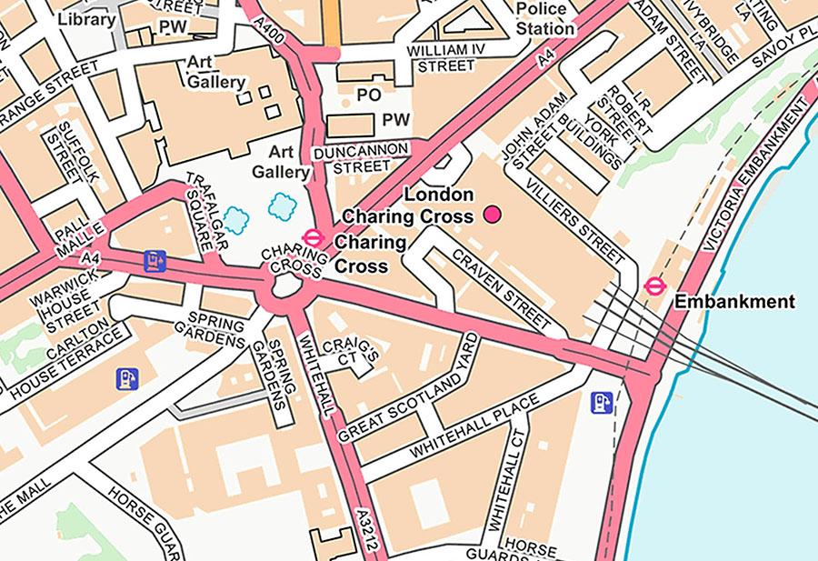 Customised Street Map Wallpaper Mural Detail view