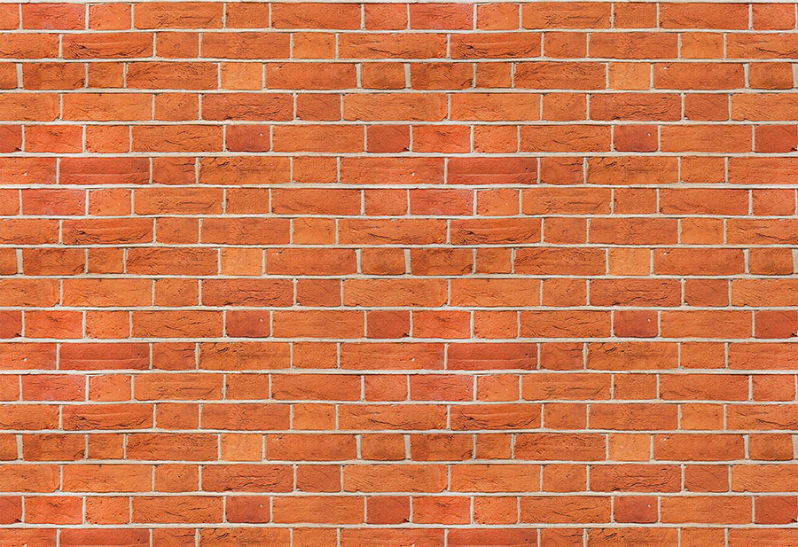 Argent Brick Wall Wallpaper Mural