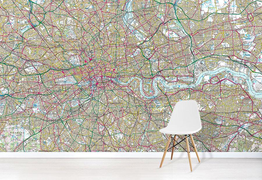 OS Landranger Map Wallpaper