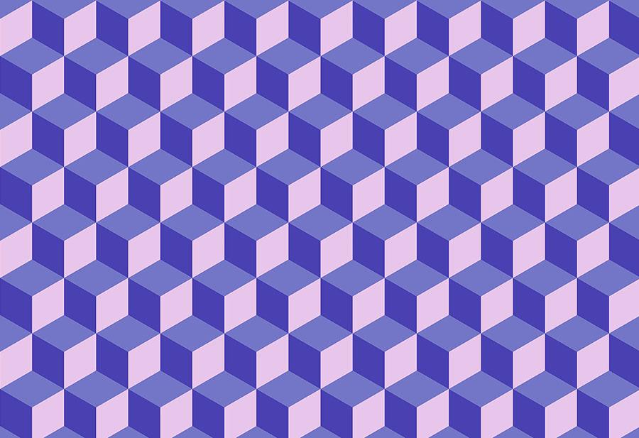 Geo Cube Blueberry
