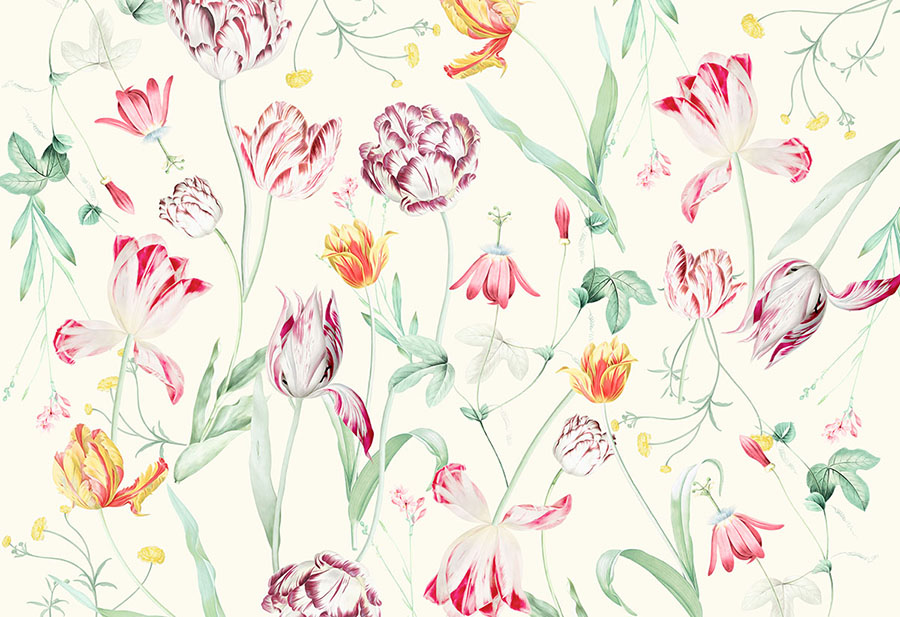 Tulipina Flowers Wall Mural