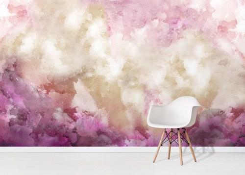 Magic Quartz Wallpaper Mural in situ with white chair