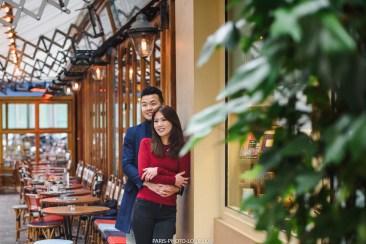 Фотосет в кафе Парижа