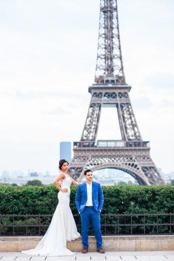 Свадебный фотограф в Париже. Фотосет на Трокадеро