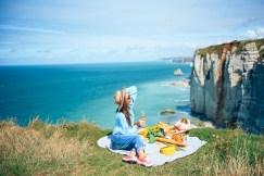 Пикник на скалах в Нормандии. Этрета фотограф