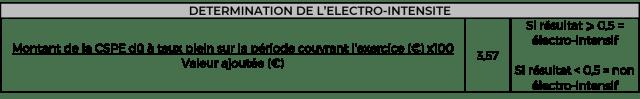 DETERMINATION DE L'ELECTRO-INTENSITE CSPE